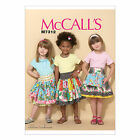 McCall's 7312 Sewing Pattern to MAKE Cute Girls' Skirts with Ruffle Variations