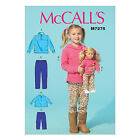 McCall's 7275 Sewing Pattern to MAKE Stretch Jacket Tops & Trousers+ Doll Verson