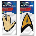 Star Trek Vulcan & Delta 2 Pack Air Freshener Plasticolor Car Truck Suv