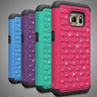 For Samsung Galaxy S7 Case - Diamond Bling Hybrid Tough Protective Phone Cover