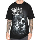 Sullen Pin Up Street Gothic Devil Rockabilly Tattoo Skulls Mens Tee KIRT SILVER