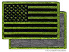 VELCRO AMERICAN FLAG MOTORCYCLE VEST BIKER PATCH GREEN RIGHT embroidered US USA