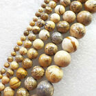 Wholesale 4/6/8/10/12mm Picture Jasper round loose beads 15.5inch YSZ36