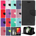 LG K7 / Tribute 5 Premium Leather 2 Tone Wallet Pouch Flip Cover +Screen Guard