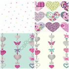 Heart Themed Girls Bedroom Wallpaper Pink Various Designs Available New Free P+p