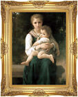The Two Sisters William Bouguereau Painting Reproduction Framed Canvas Fine Art