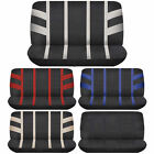 Racerline 2pc Back Row Bench Car Seat Cover Polyester Universal Beige