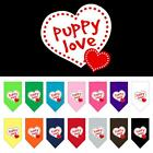 Puppy Love Screen Print Dog Bandana Valentines Day Dog Collar Present Puppy