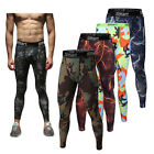 Men Compression Leggings Base Layers Long Pants Summer Trousers Fitness Running