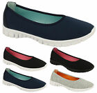 Ladies Women Running WALK FLEXI Skater Sports Trainers Pump Plimsolls Shoes Size