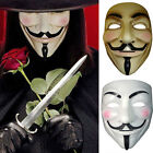 V for Vendetta Mask Anonymous Guy Fawkes Fancy Halloween Dress Cosplay Mask