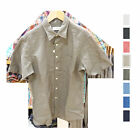 UNIQLO Men LINEN COTTON SHORT SLEEVE SHIRT White Gray Red Beige Blue Navy 164225