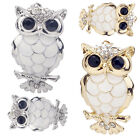 Hot New Charm Silver Crystal Jewelry Bouquet Brooch Pin Owl Rhinestone Party