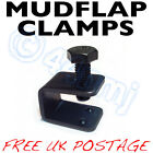 Mudflap Fitting Fixing Clamps U C Clamp Mud Flaps Black or Silver 4 8 12 pack