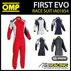 NEW! IA01854 2016 OMP FIRST EVO RACE SUIT BREATHABLE & FIREPROOF FIA 8856-2000