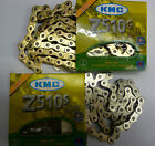 "KMC Z510 1/2 x 1/8"" BMX Old School Fixed Single Speed Chain Gold Silver Z510"