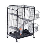 "37"" Ferret Cage Guinea Pig Rabbit Rat Small Animal Habitat Bird Metal w/ Feeder"