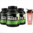 3 x ON Optimum Nutrition Serious Mass 2.7KG Weight Gainer Protein + FREE Shaker