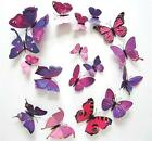 12pcs 3D Butterfly Stickers Making Stickers Wall Sticker Art Decor Decals