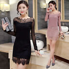 2016 Women Fashion Casual  tops Lace Dress Evening Party Dresses hot 3 colors