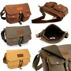 Men\'s Vintage Canvas Leather Shoulder Bag Messenger Travel School Briefcase Bag
