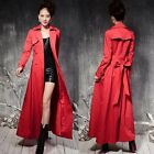 Fashion Women's Full Length Slim Jackets Windbreaker Overcoat Long Trench Coats