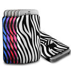 Protective Zebra Pull Tab Pouch Cover Case for Alcatel Mobile Phones