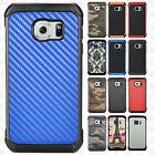 For Samsung Galaxy S7 Rubber IMPACT TRI HYBRID Hard Case Skin Phone Cover