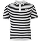 Lonsdale Mens Yarn Dye Striped Polo T Shirt Short Sleeve Classic Fit Tee Top