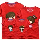 New 9-color Family fitted DAD MOM Son Girl Short sleeve clothes lovers T-Short
