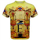 Capital E T-Shirt All Over print 16th century Calligraphy Initial Monogram