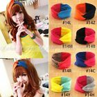 Women Colorful Wide Sports Yoga Headband Stretch Hairband Elastic Hair Band