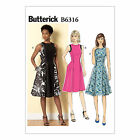 Butterick 6316 Easy Sewing Pattern to MAKE Misses Dress w/Fitted Bodice