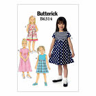 Butterick 6314 Sewing Pattern to MAKE ‏Girls' Dresses w/ Sleeve Variations