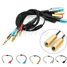 3.5mm Stereo Audio Y Splitter 1 Female to 2 Dual Male Cable For Headphone Mic PC