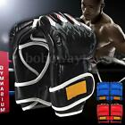 UFC MMA Leather Boxing Gloves Grappling Fight Training Punching Sparring Mitts