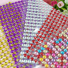 750PCS Self Adhesive Glitter Crystals Gems Jewel Stick On Diamante Decor Sticker