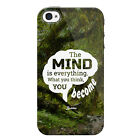 What You Think You Become Quote Buddha Apple iPhone 4 Case / Cover