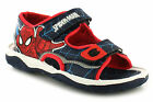 New Younger Boys/Childrens Blue/Red Spiderman Touch Fastening Sandals. UK SIZES
