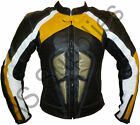 """ANUBIS"" New Leather Biker Motorcycle Jacket - Protective Kevlar - All sizes!"