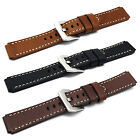 18mm Retro Vintage Genuine Real Leather Watch Band Strap For Huawei Smart Watch