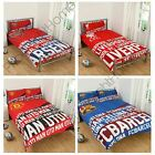 ARSENAL MAN U BARCELONA LIVERPOOL IMPACT DUVET COVERS SINGLE & DOUBLE OFFICIAL