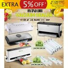 Vacuum Food Sealer Saver Storage Preservation Heat with Free Bag Rolls