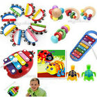 Baby Kids Infant Wooden Educational Early Study Intelligence Music HandBell Toys