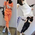 New Arrival fashion woman leisure movement trousers Sports clothes suit