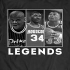 BASKETBALL LEGENDS SHAQ~OLAJUWON~EWING HALL OF FAME *OLDSKOOL* RARE CUSTOM SHIRT image