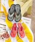WOMEN'S COMFORT MEMORY FOAM THONG STYLE FLIP FLOP SANDALS CORAL OR GRAY-3 SIZES