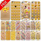 Funny Emoji Soft Case Cover For iPhone 4S 5S SE 6 6S Plus 6P Clear Soft TPU Skin