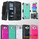 Rugged Hybrid Phone Case Shockproof Belt Clip Holster Built-in Screen Protector