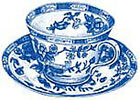 Blue Willow Tea Cup China White Cups Wallies Decals Art Stickers Decal Decorate